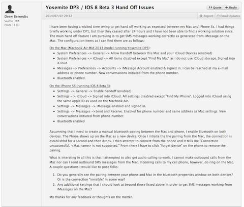 Developer forum yosemitedp3 ios8 handoff