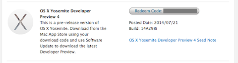 Developer yosemite dp4