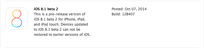 iOS8.1beta2